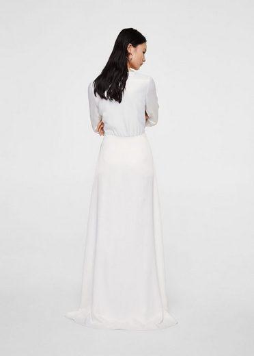 MANGO Langes Kleid im Wickelstil