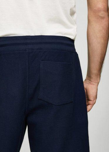MANGO MAN Baumwoll-Bermudashorts mit Textur