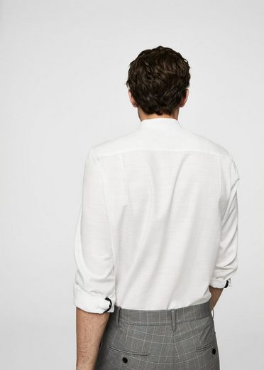 MANGO MAN Regular Fit-Hemd mit Mao-Kragen
