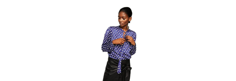 MANGO Bedruckte Bluse mit Schleife Erhalten Authentisch Zu Verkaufen Spielraum Billig Echt Npq9vc1