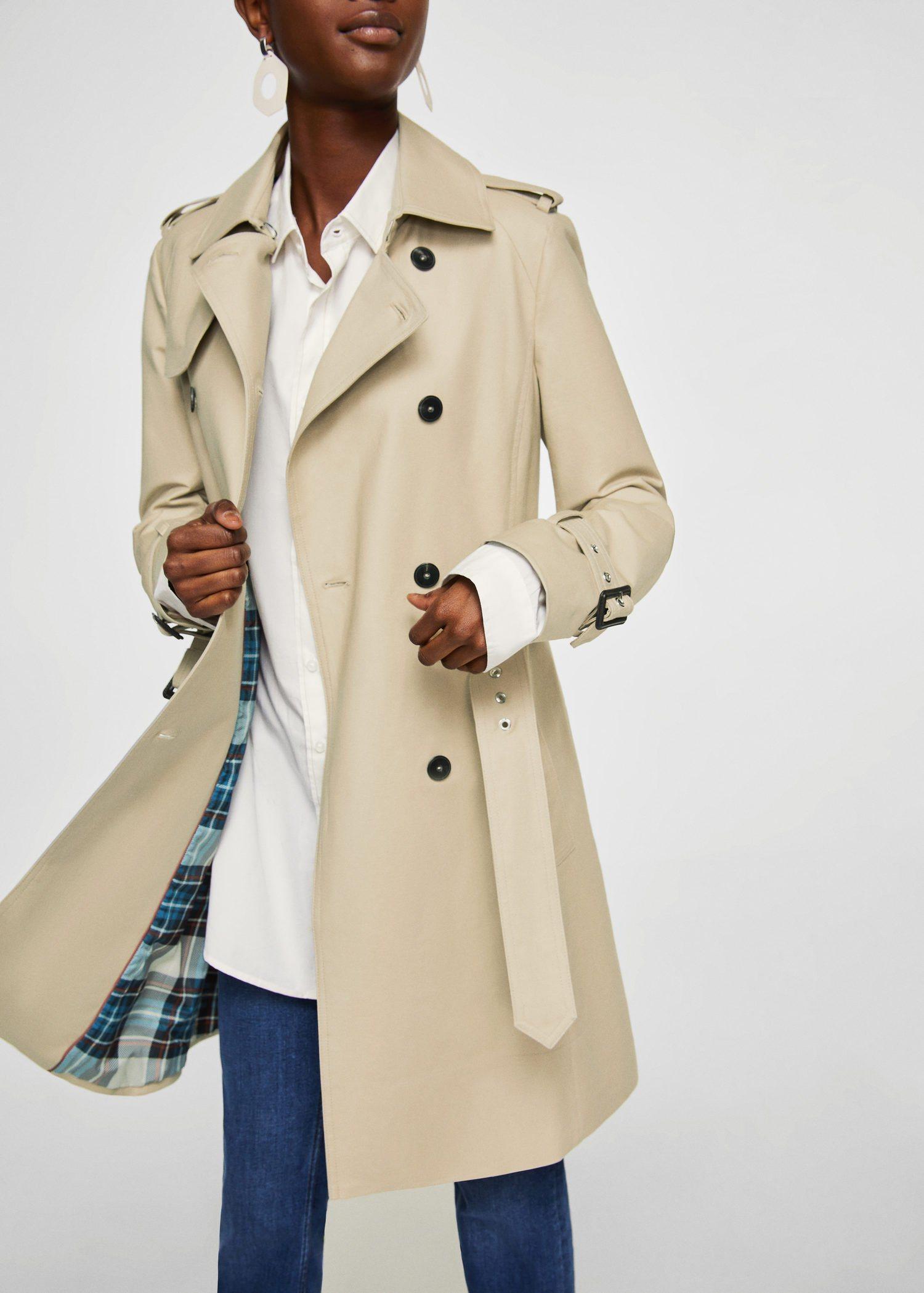 MANGO Zweireihiger Trenchcoat | Bekleidung > Mäntel > Trenchcoats | MANGO