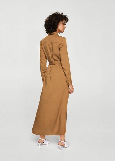 MANGO Langes Kleid mit Schleife