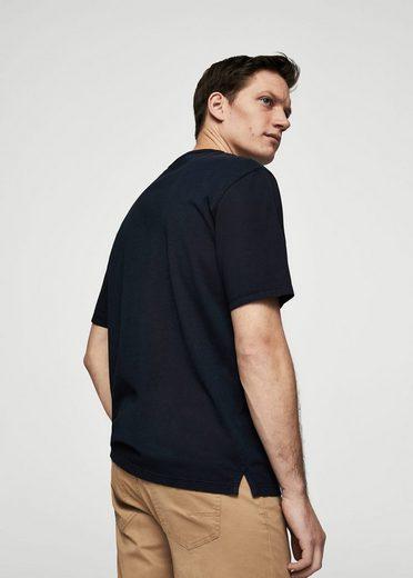 MANGO MAN Bedrucktes Baumwoll-T-Shirt