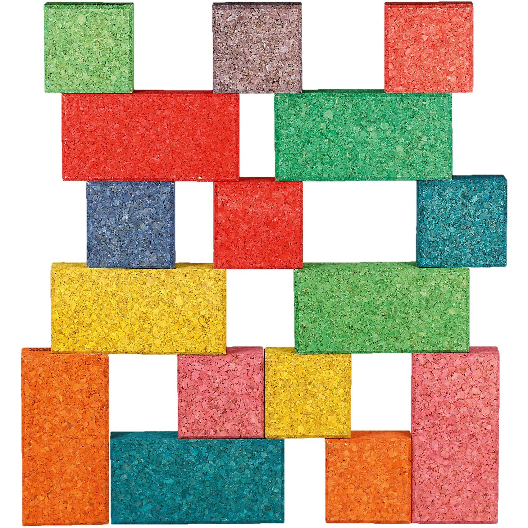 Korkbausteine Cuboid Mix Color edu, 38 Stk.