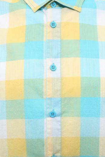 Finn Flare Kurzarm-Hemd mit farbenfrohem Karomuster