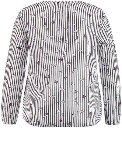 Samoon Bluse Langarm Baumwoll-Bluse mit elastischem Saum