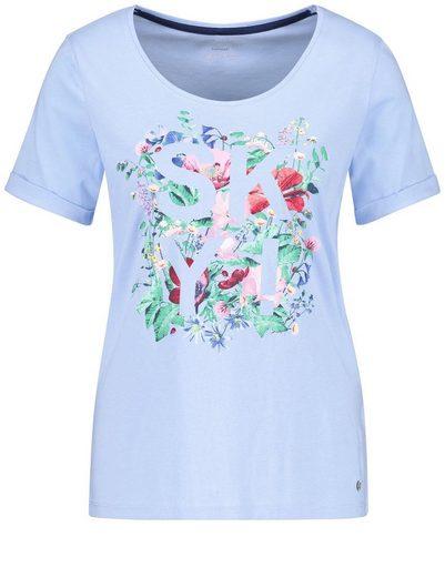 Gerry Weber T-Shirt 1/2 Arm 1/2 Arm Shirt mit Frontdruck organic cotton