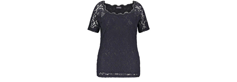 Samoon T-Shirt Kurzarm Rundhals Elastisches Spitzenshirt Empfehlen W4P0mZ