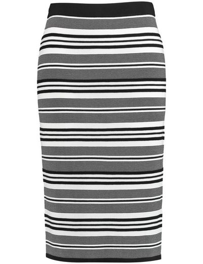 Samoon Rock Knitting Knitting Skirt With Stripe Pattern