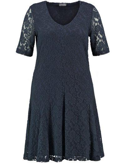 Samoon Kleid Gewirke Spitzenkleid, elastisch