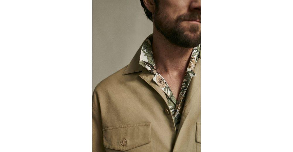 MANGO MAN Regular Fit Hemd mit Blumendruck Billig Verkaufen Niedrigsten Preis r8Nsyg