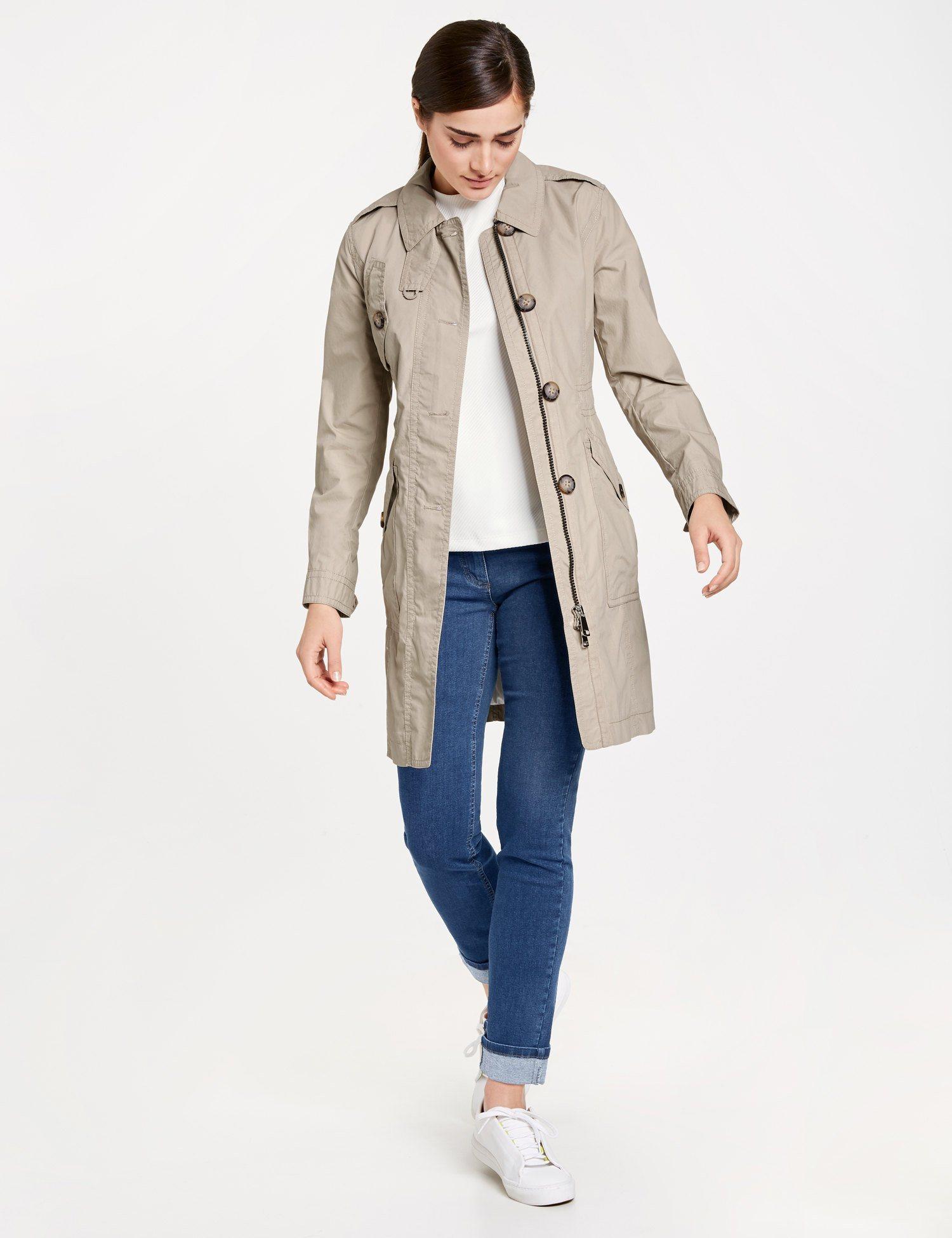 TAIFUN Mantel nicht Wolle »Trenchcoat aus Baumwolle« | Bekleidung > Mäntel > Trenchcoats | Wolle - Baumwolle - Polyester | Taifun
