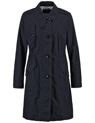 Taifun Mantel nicht Wolle Trenchcoat aus Baumwolle