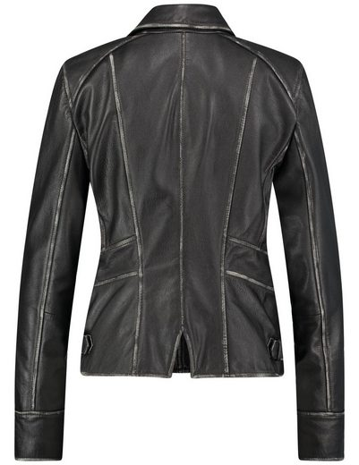 Typhoon Non Outdoor Jacket Wool Leather Jacket In Used Look