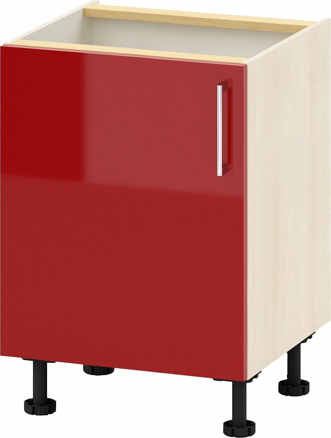 set one by Musterring Spülenunterschrank »USP607216«, Breite 60 cm, wählbar mit einem Bügelgriff oder einer Griffleiste | Küche und Esszimmer > Küchenschränke > Spülenschränke | Weiß - White - Hell - Schwarz - Dunkel - Grau - Matt - Glanz | Nussbaum - Glänzend - Akazie - Eiche - Holzwerkstoff - Mdf - Melamin | set one by Musterring