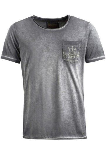 khujo T-Shirt TIAGO, mit aufgesetzter Brusttasche