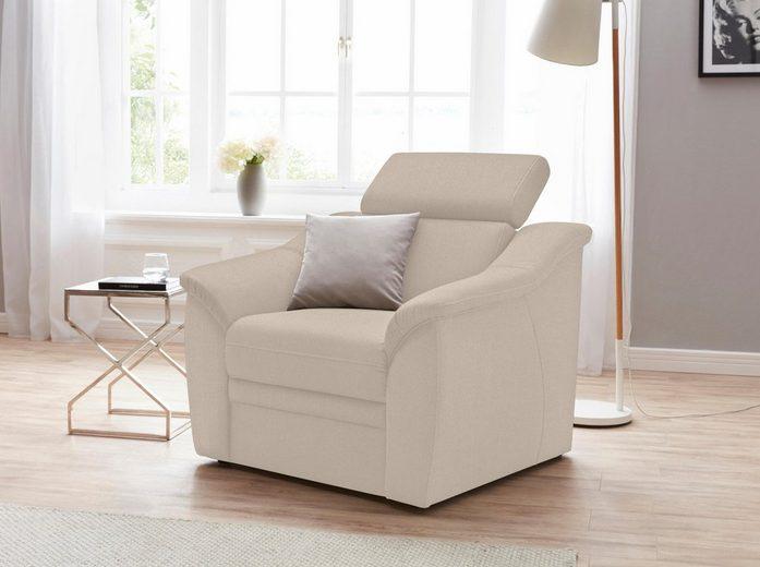sit&more Sessel, inklusive Federkern und Kopfteilverstellung