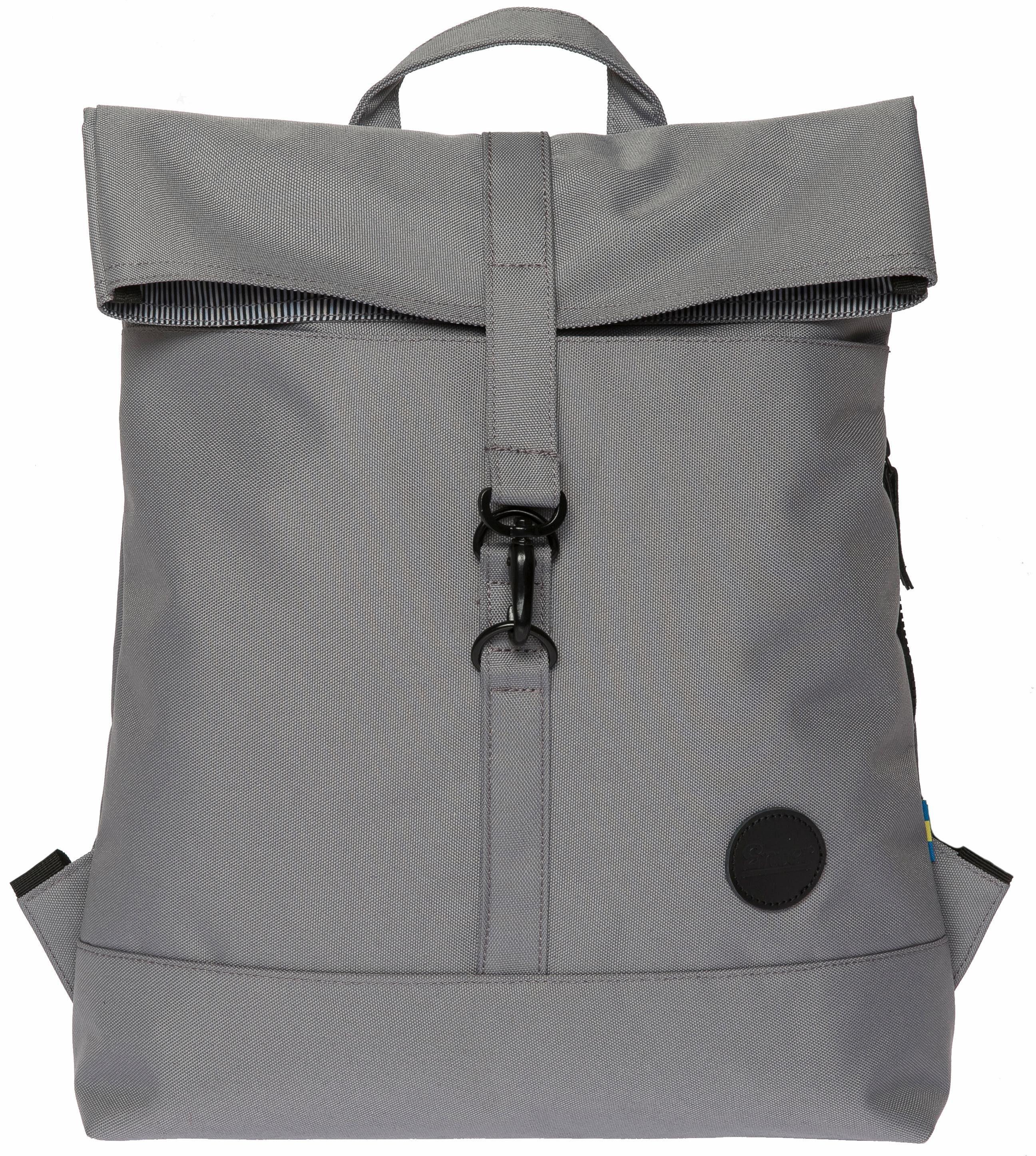 Enter Rucksack, »City Fold Top Backpack, Grey«