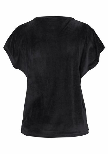 LASCANA T-Shirt aus weichem Nicki