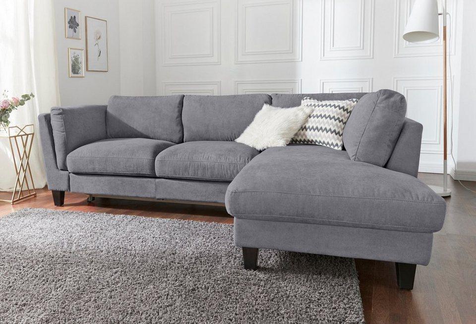 cotta ecksofa wahlweise mit bettfunktion und kopfst tze online kaufen otto. Black Bedroom Furniture Sets. Home Design Ideas