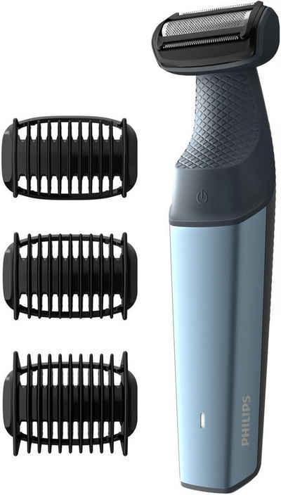 Philips Elektrokörperrasierer Series 3000 BG3015/15, Aufsätze: 3, Langhaartrimmer, Bodygroom