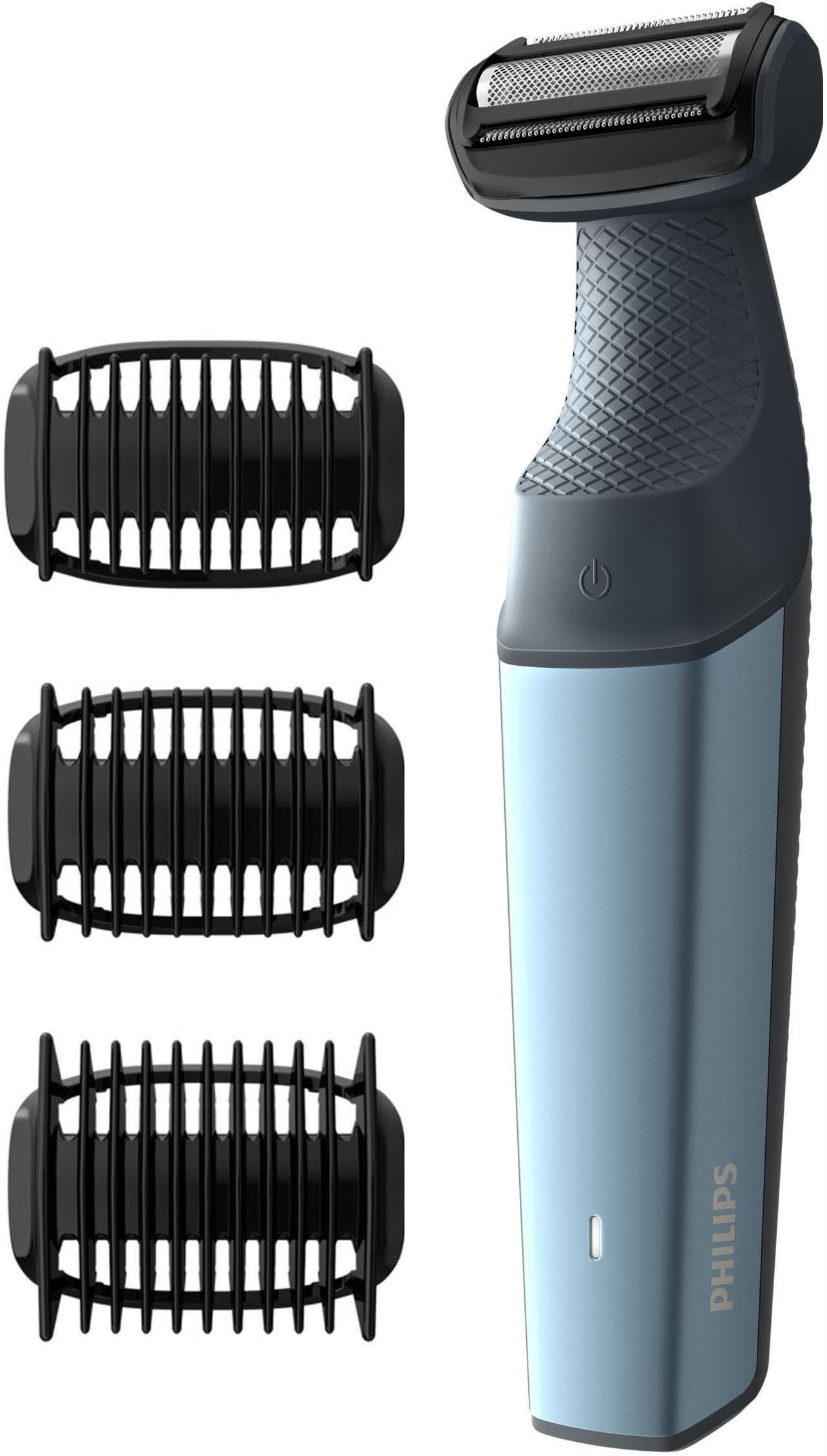Philips Männerkörper-Rasierer Series 3000 BG3015/15, Bodygroom mit 3 Trimmaufsätzen