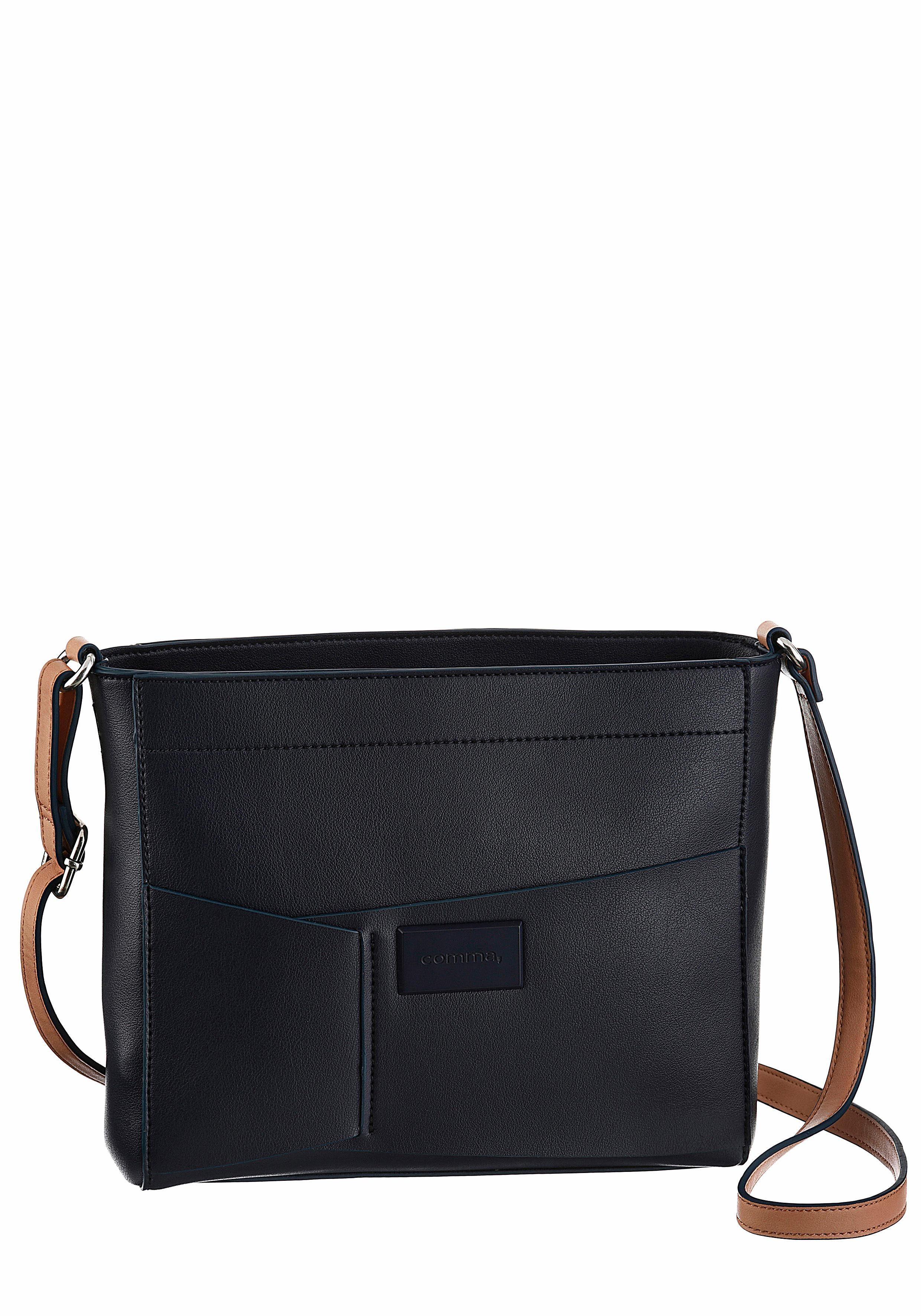 Comma Umhängetasche »Puzzled Shoulder Bag«, mit verstellbaren und abmehmbarem Umhängeriemen