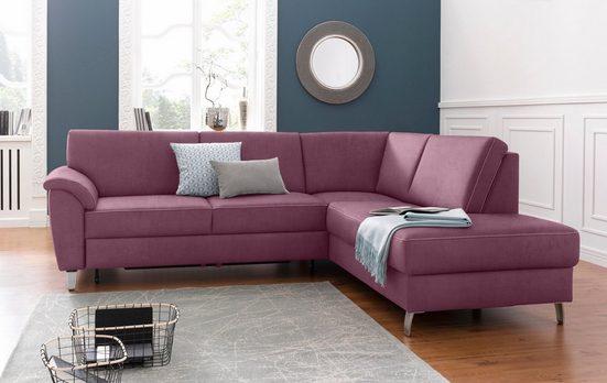 sit&more Ecksofa, mit Federkern, wahlweise mit Bettfunktion und Bettkasten