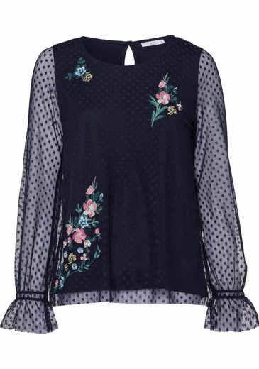 Edc By Esprit Blusenshirt With Embroidery Lace And