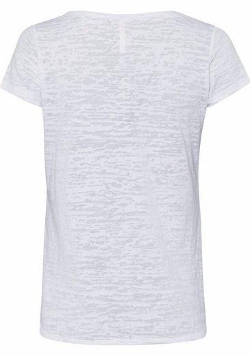 Key Largo T-Shirt, mit Print und Pailletten