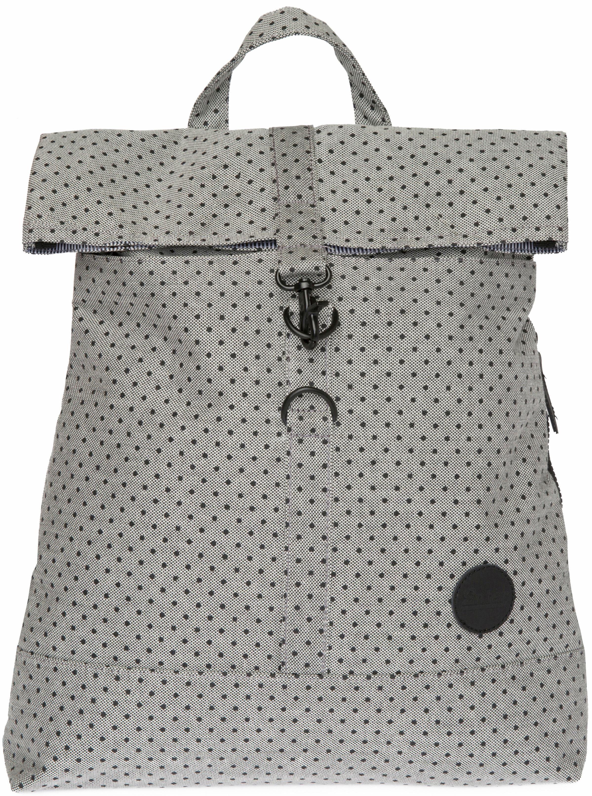 Enter Rucksack, »City Fold Top Backpack, Grey/Black«