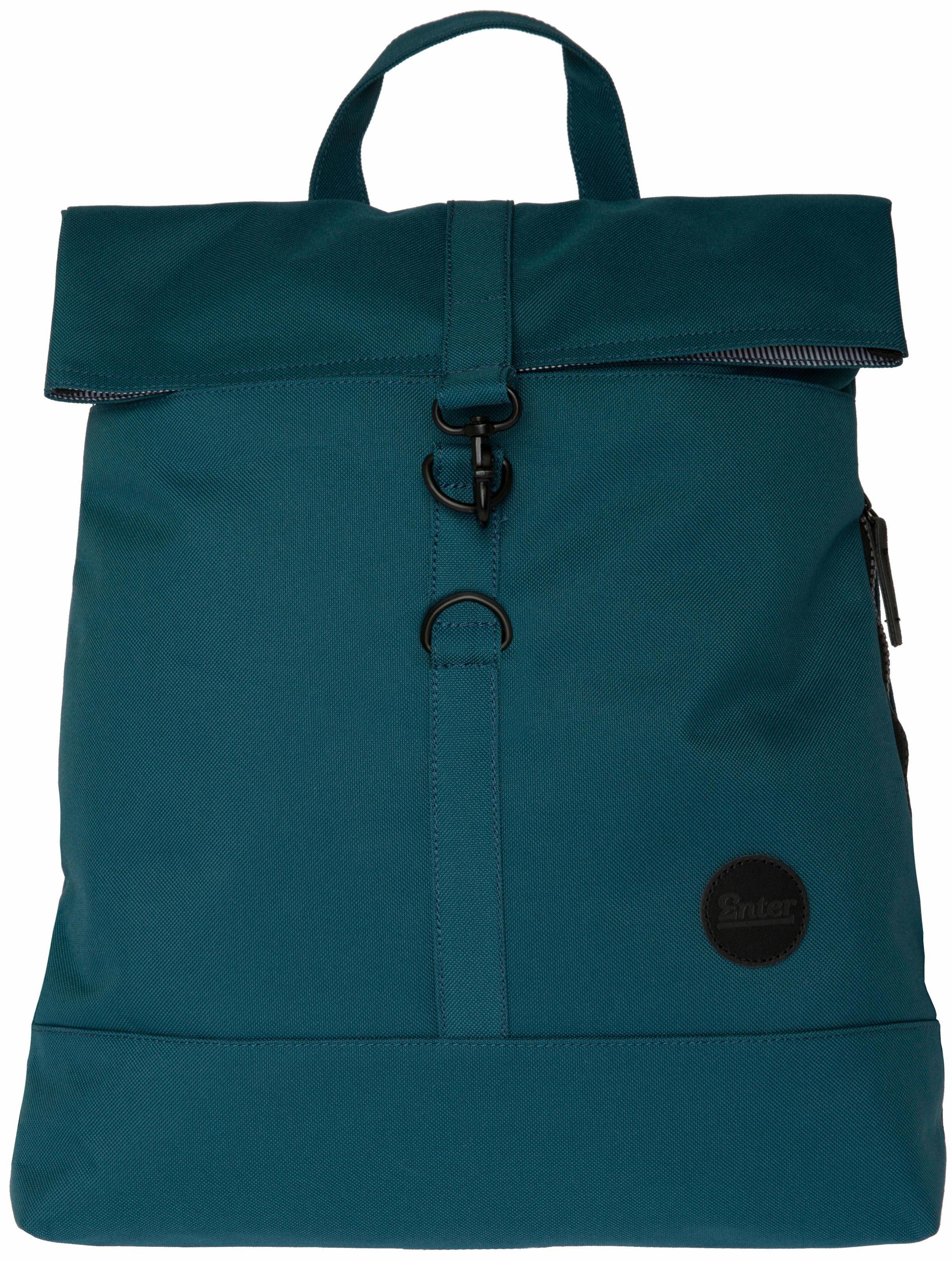Enter Rucksack, »City Fold Top Backpack, Petrol«