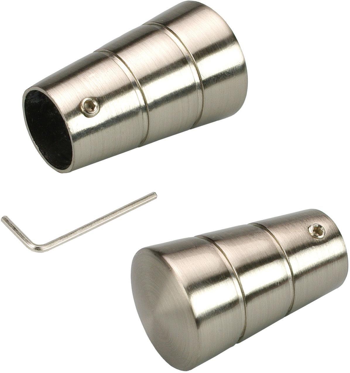 Endstück, Liedeco, »Concav«, für Gardinenstangen Ø 16 mm (2 Stück) | Heimtextilien > Gardinen und Vorhänge > Gardinenstangen | Liedeco