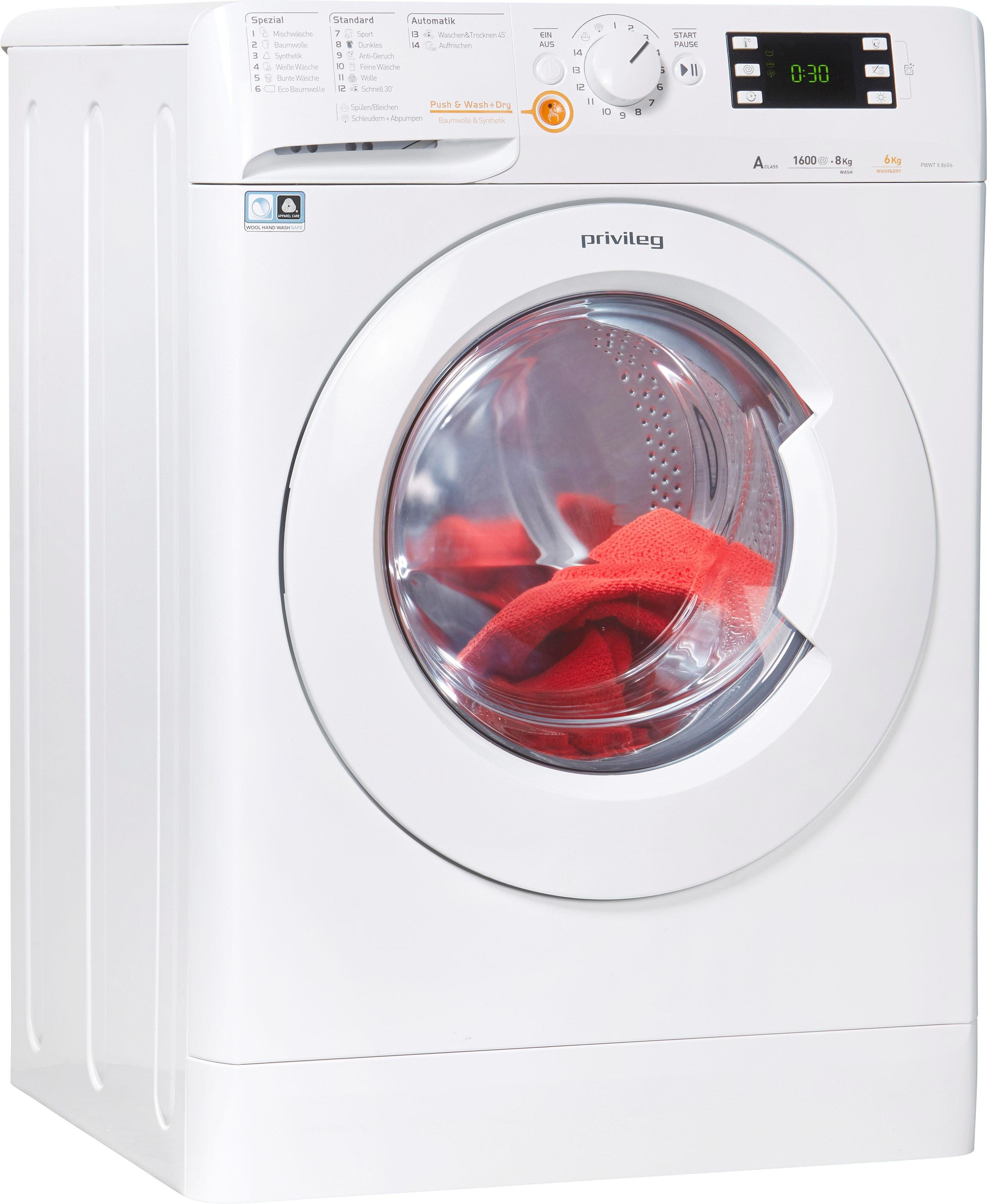 Privileg Family Edition Waschtrockner, 8 kg/6 kg, 1600 U/Min