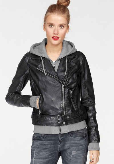 online retailer 595e4 6f919 Damen Lederjacke in schwarz online kaufen | OTTO