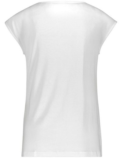 Taifun T-Shirt Kurzarm Rundhals Shirt mit Volants