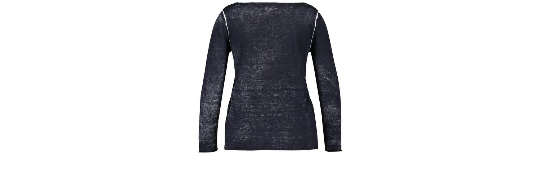 Spielraum Fabrikverkauf Neu Samoon Pullover Langarm Rundhals Pullover mit Handmade-Print CC5iD0SYHx