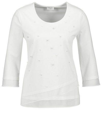 Gerry Weber T-Shirt 3/4 Arm 3/4 Arm Shirt mit Chiffonsaum