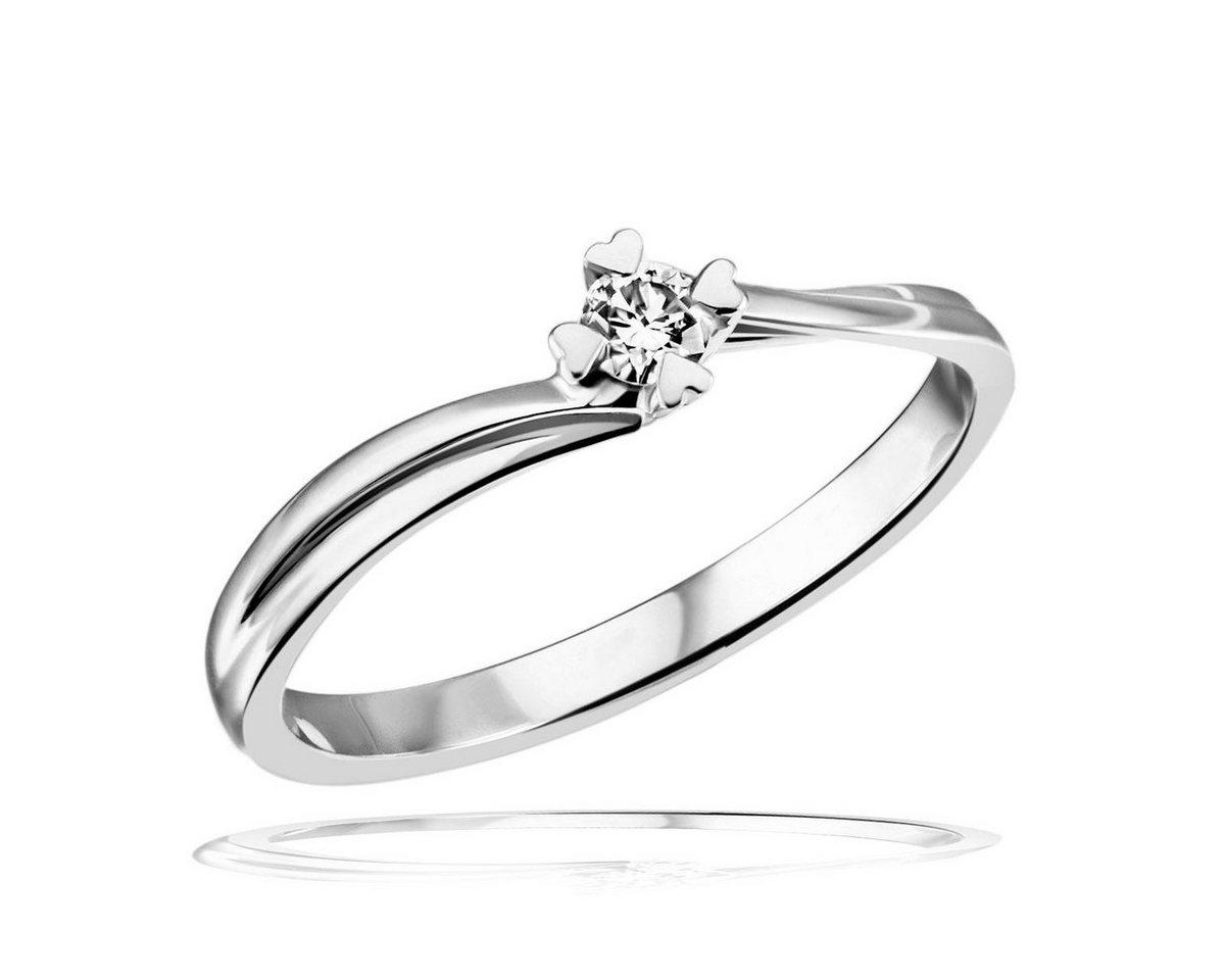 goldmaid Damenring Weissgold 585 Brillant Herz Stotzen Verlobungsring | Schmuck > Ringe > Verlobungsringe | goldmaid