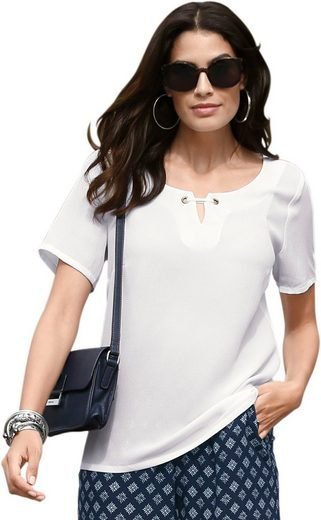 Classic Inspirations Blouse In Flowing, Easy-care Crêpe-quality