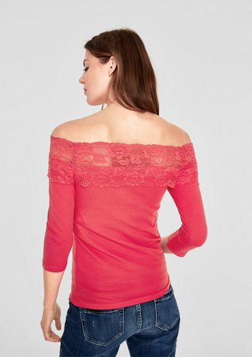 s.Oliver RED LABEL Spitzenshirt mit 3/4-Arm