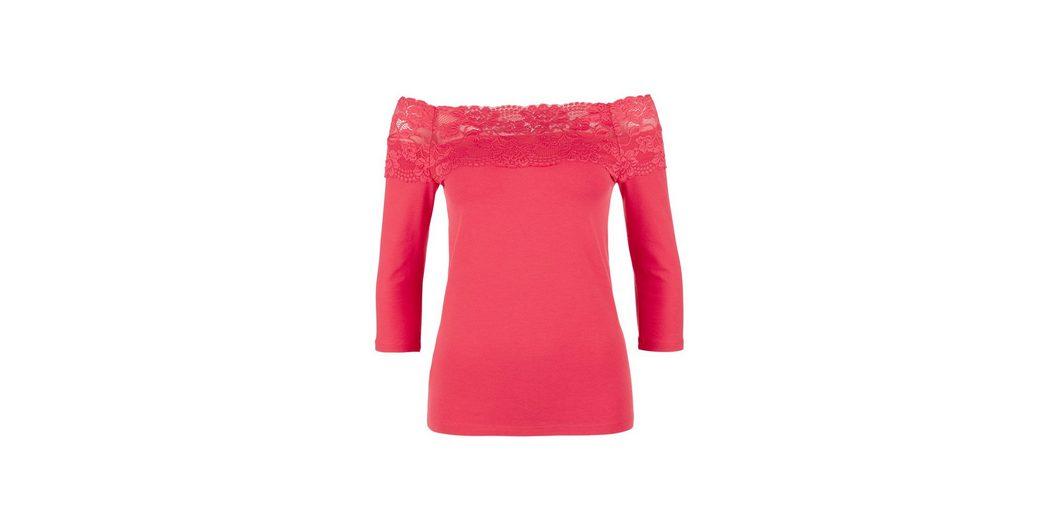 Heißen Verkauf Günstig Online Günstiger Preis Versandkosten Für s.Oliver RED LABEL Spitzenshirt mit 3/4-Arm Günstig Kaufen Countdown-Paket SFGRu20