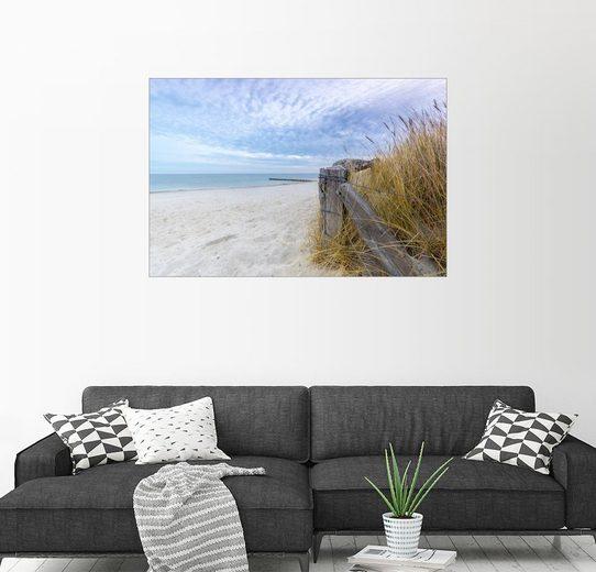 Posterlounge Wandbild - Dennis Stracke »Ostsee Strand Fehmarn«