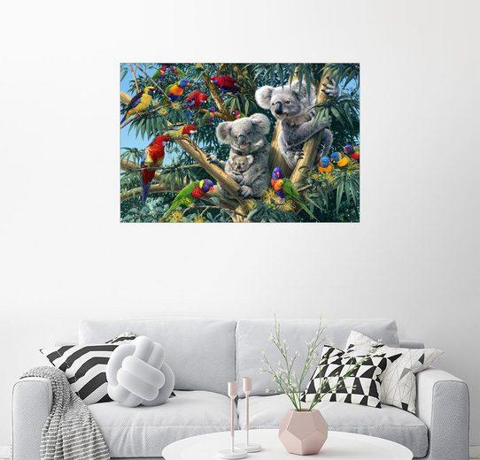 Posterlounge Wandbild - Steve Read »Koala Outback - Suchbild«