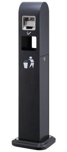 Lüllmann Aschenbecher »Standaschenbecher Ascher verzinkt mit Mülleimer 120x35x33cm Abdeckung«, - Für den Außenbereich konzipiert, zum Aufstellen Lackiertes Stahlgehäuse (0.9 mm stark) - Gewicht: 16,5 kg brutto - mit Mülleimer