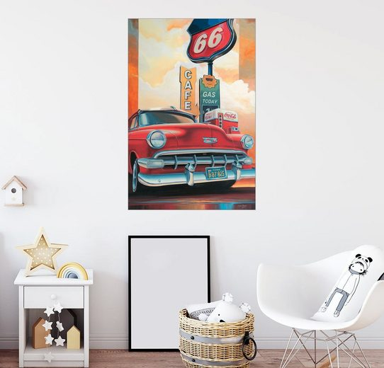 Posterlounge Wandbild - Georg Huber »Route 66 Cafe«