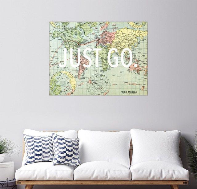 Posterlounge Wandbild - Finlay and Noa »Just Go« | Dekoration > Bilder und Rahmen > Bilder | Bunt | Posterlounge