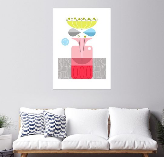 Posterlounge Wandbild - Ellen Giggenbach »Retro vase«