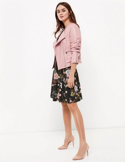 Typhoon Blazer Long Sleeves Lined Biker Jacket With Ruffles
