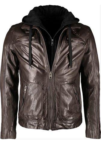 Куртка кожаная с съемный капюшон &raqu...